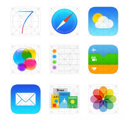 iOS 7 아이콘 그리드